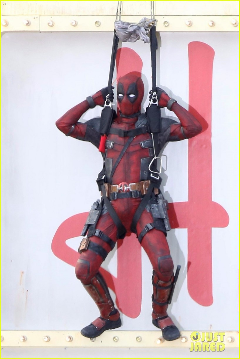 deadpool stunt filming 023936463
