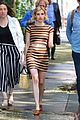 emma roberts rocks striped crop top and matching skirt in nyc 04