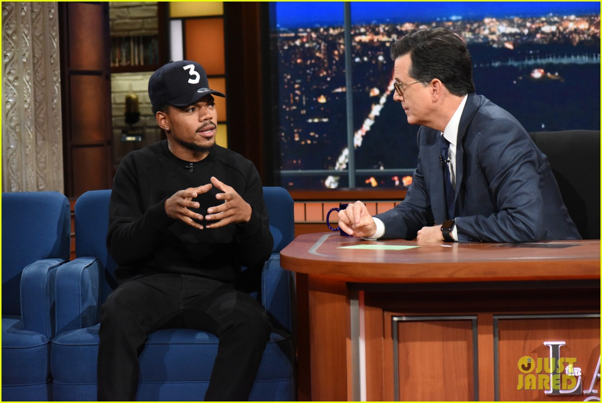 chance the rapper debuts new unreleased song on the late show 023964771