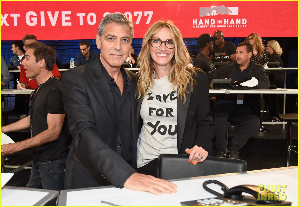 george clooney julia roberts reunite at hand in hand telethon 033955892