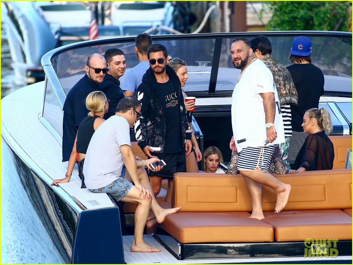 scott disick and sofia richie flaunt pda on a boat with friends2 183962998