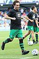 jamie dornan ed westwick play in london charity soccer game 05