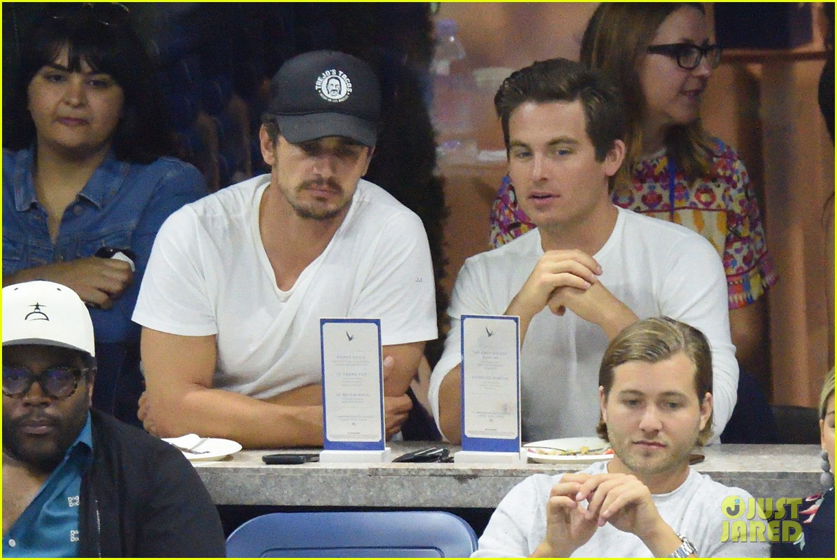 james franco kevin zegers hang out at us open 033950292