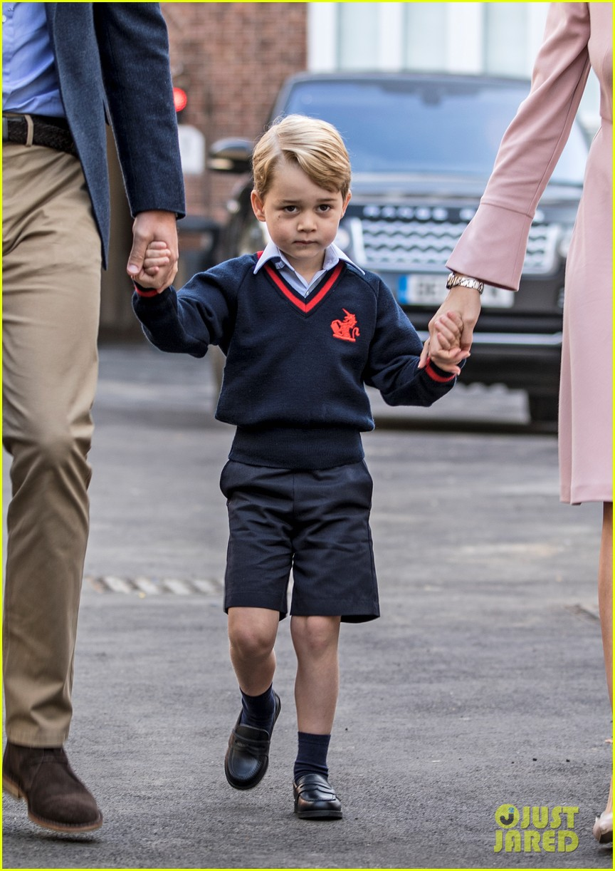 georges first day in school Prince george arrives for his first day of school at thomas's battersea with his  father the duke of cambridge pictwittercom/b7tgcra3ve.