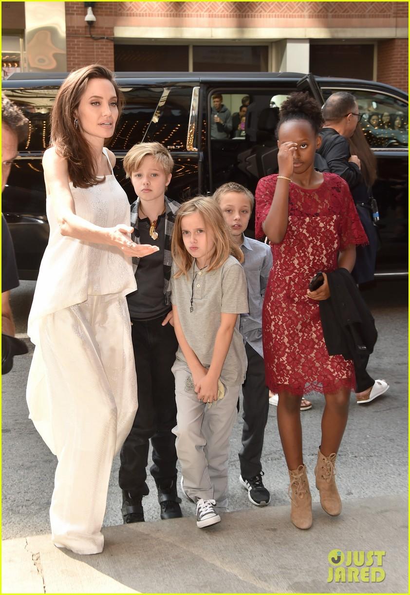 angelina jolie brings kids red carpet tiff 233954347