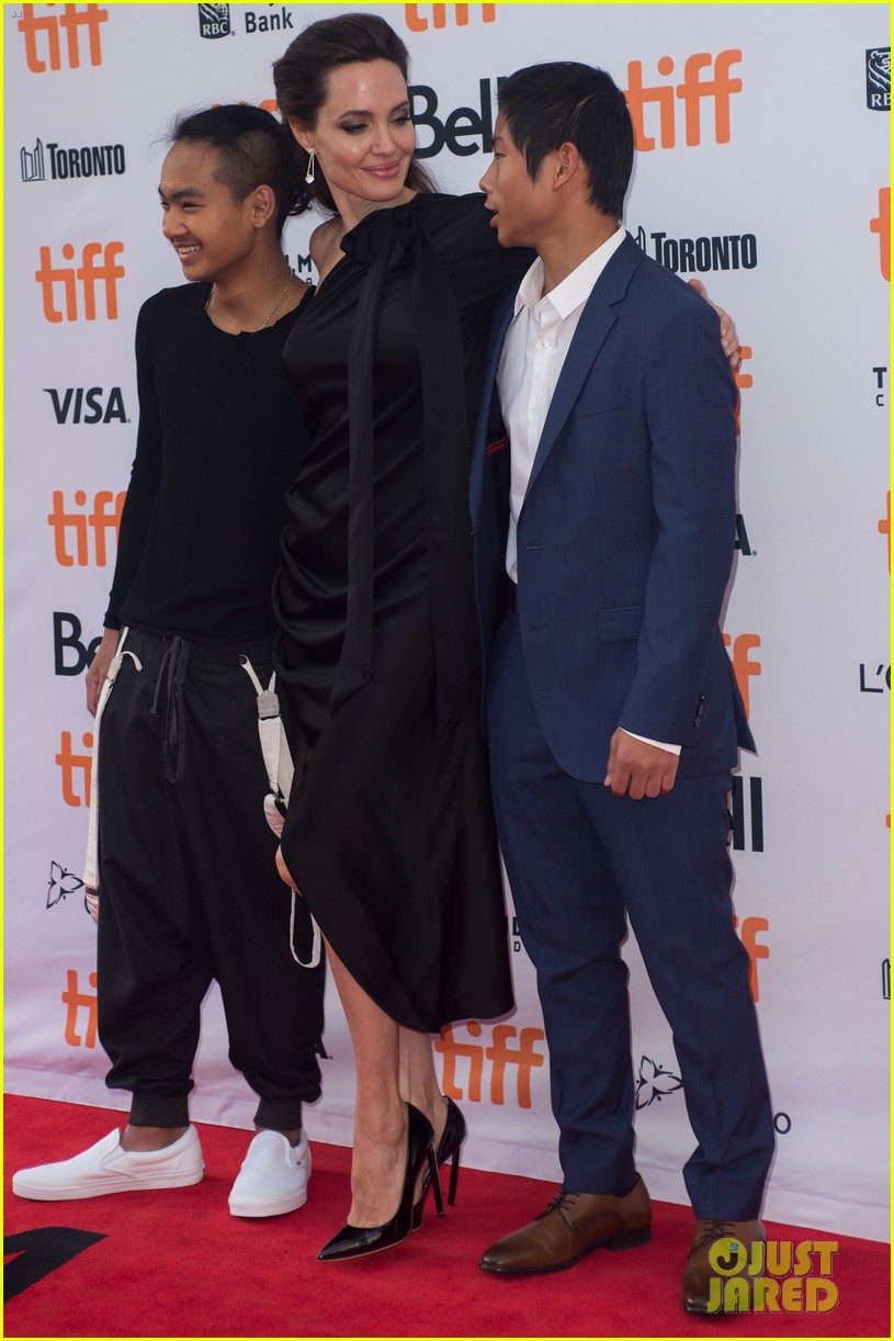 angelina jolies kids join her at first they killed my father tiff premiere 253955253