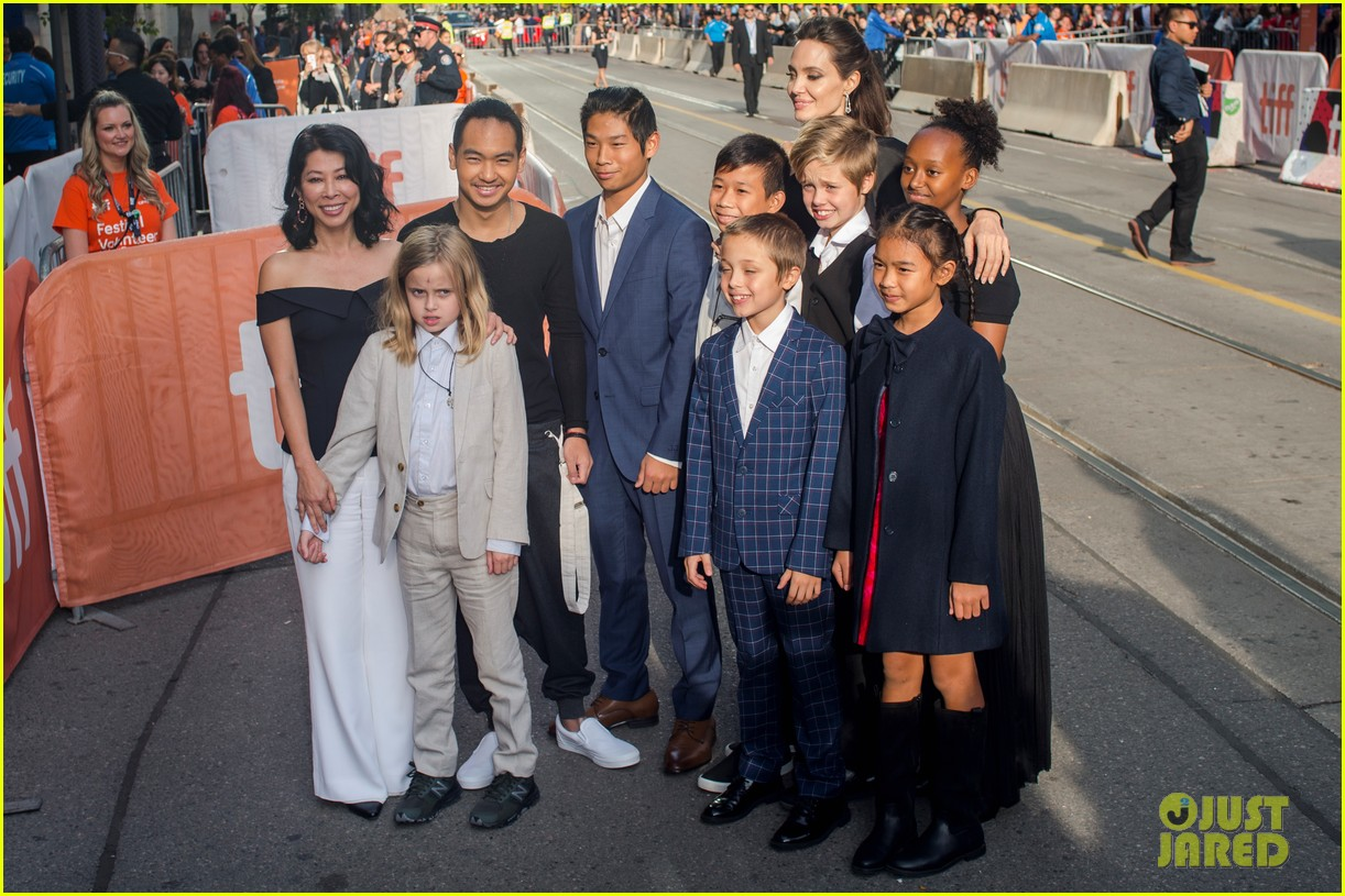 angelina jolies kids join her at first they killed my father tiff premiere 393955267