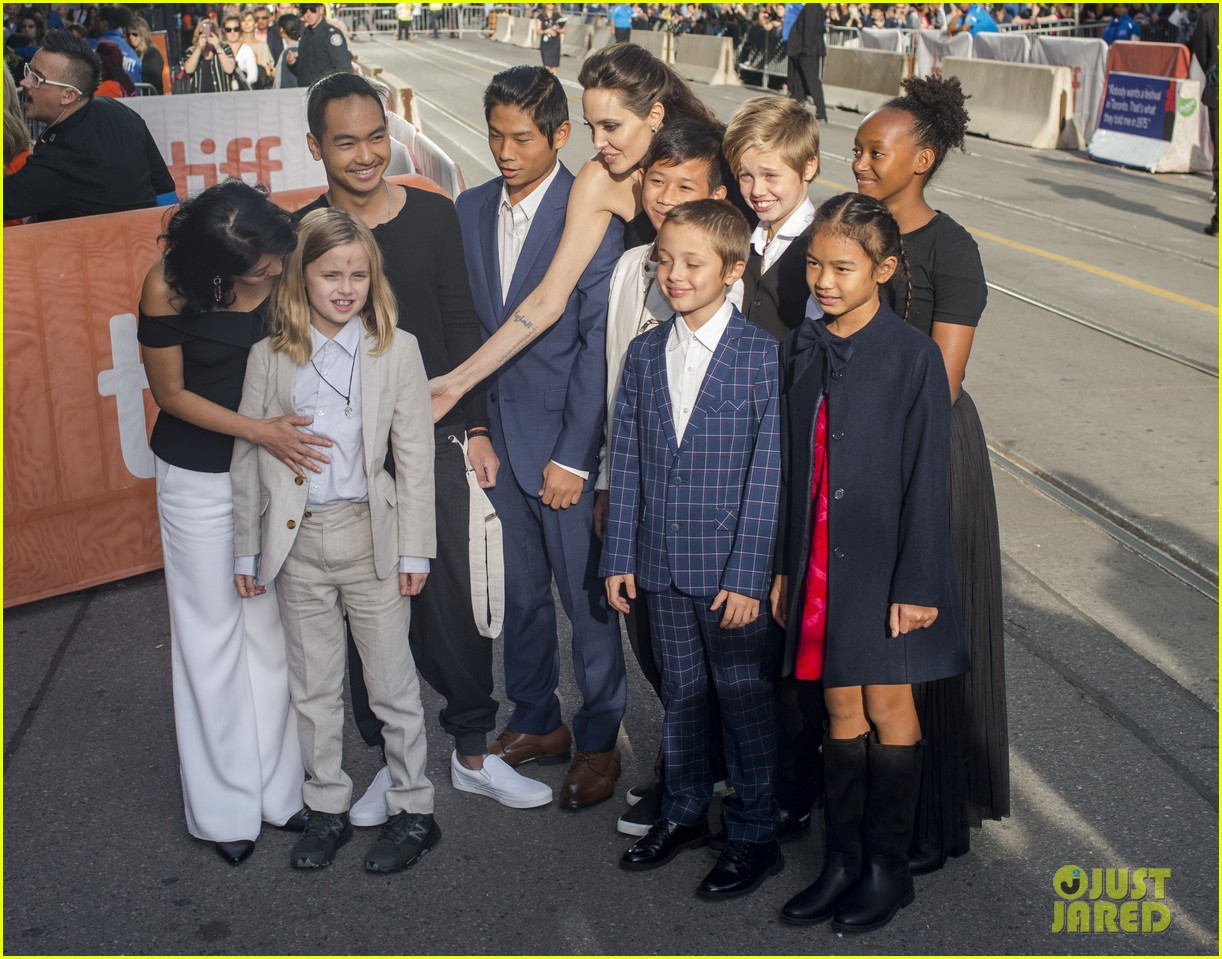 angelina jolies kids join her at first they killed my father tiff premiere 423955270