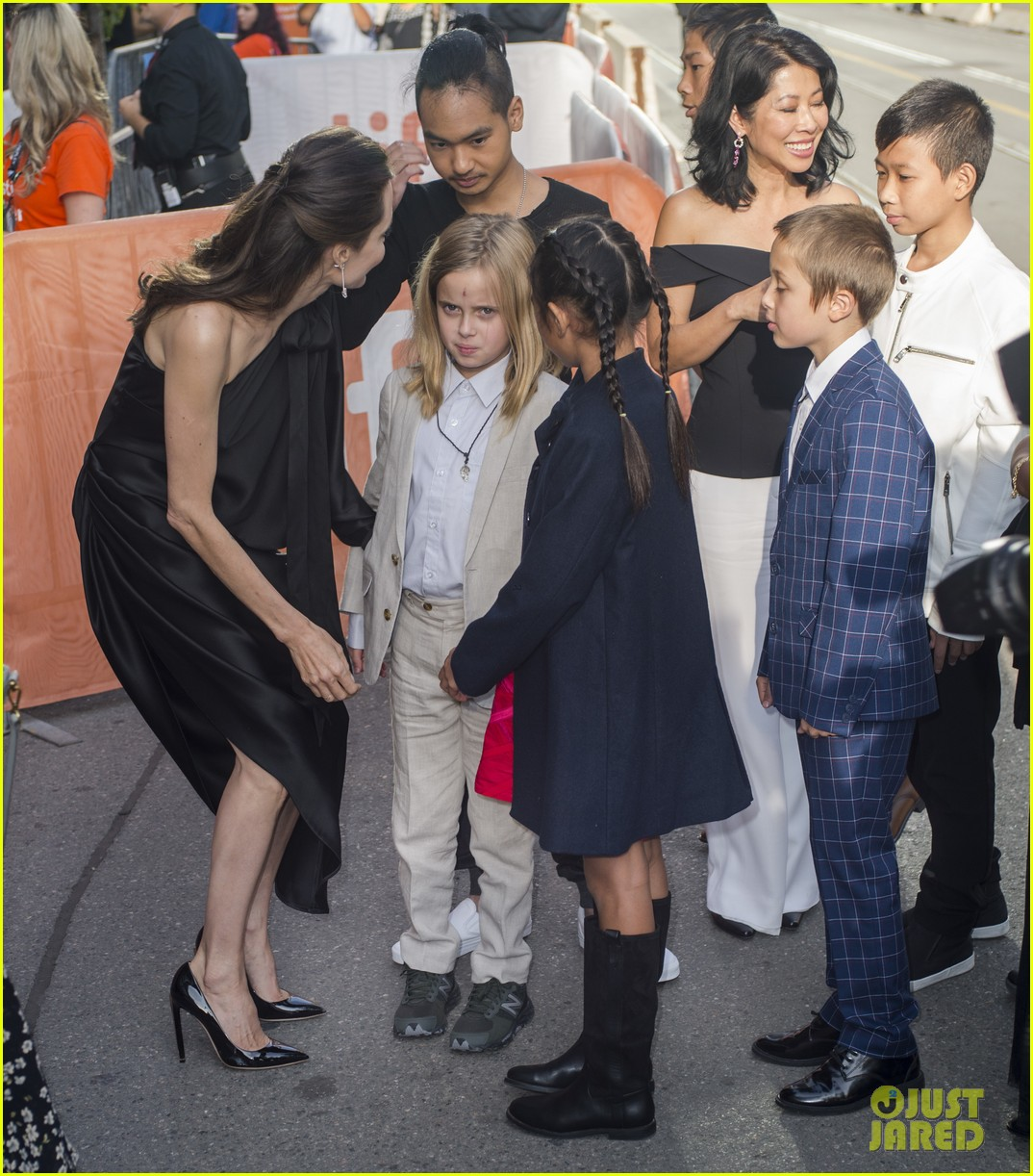 angelina jolies kids join her at first they killed my father tiff premiere 433955271