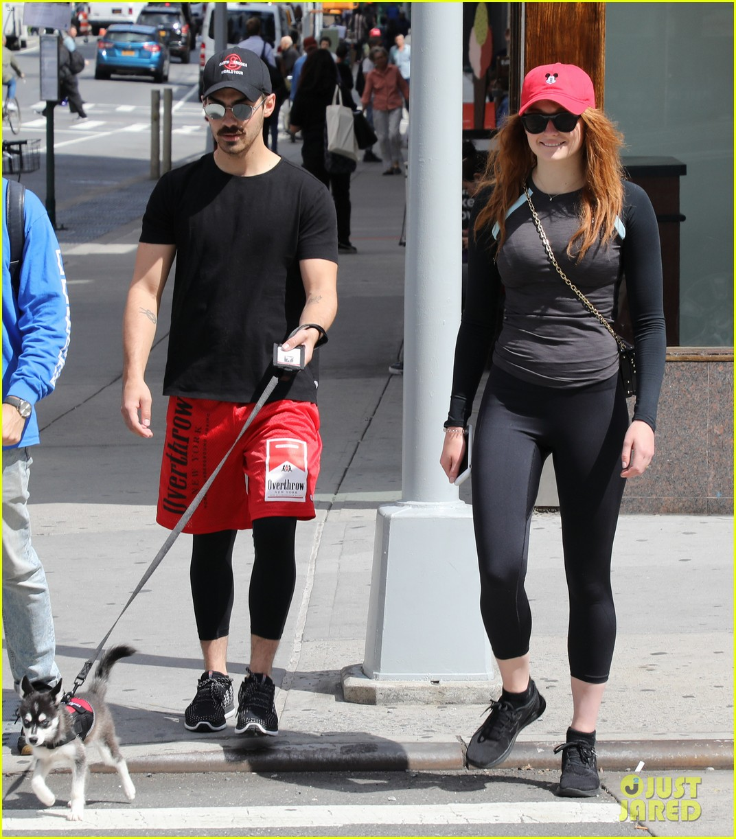 joe jonas sophie turner and their dog step out in coordinating outfits 053953750