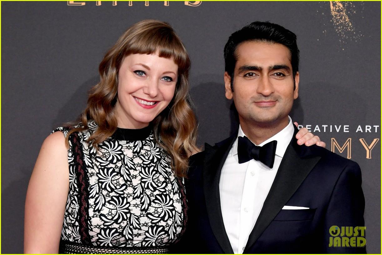 kumail nanjiani emily v gordon couple up for emmy awards 053959760