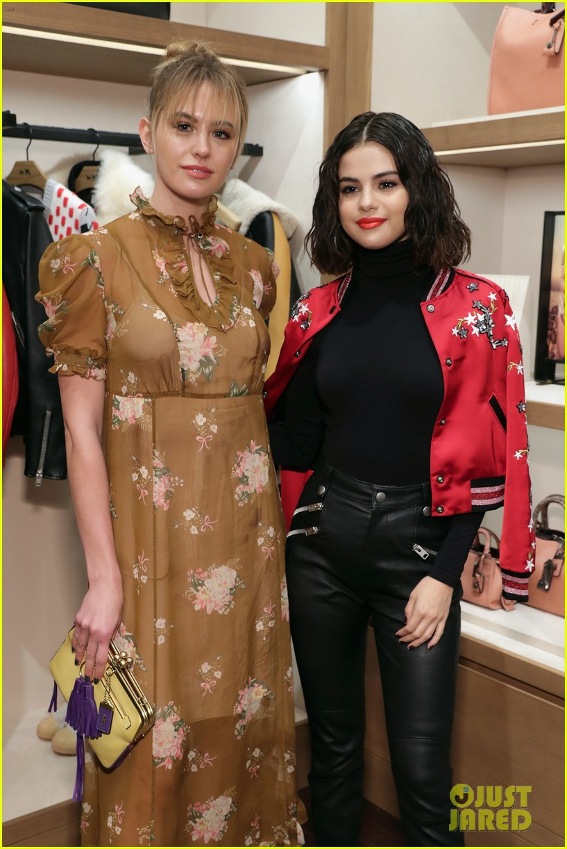 selena gomez coach store appearance 023956459