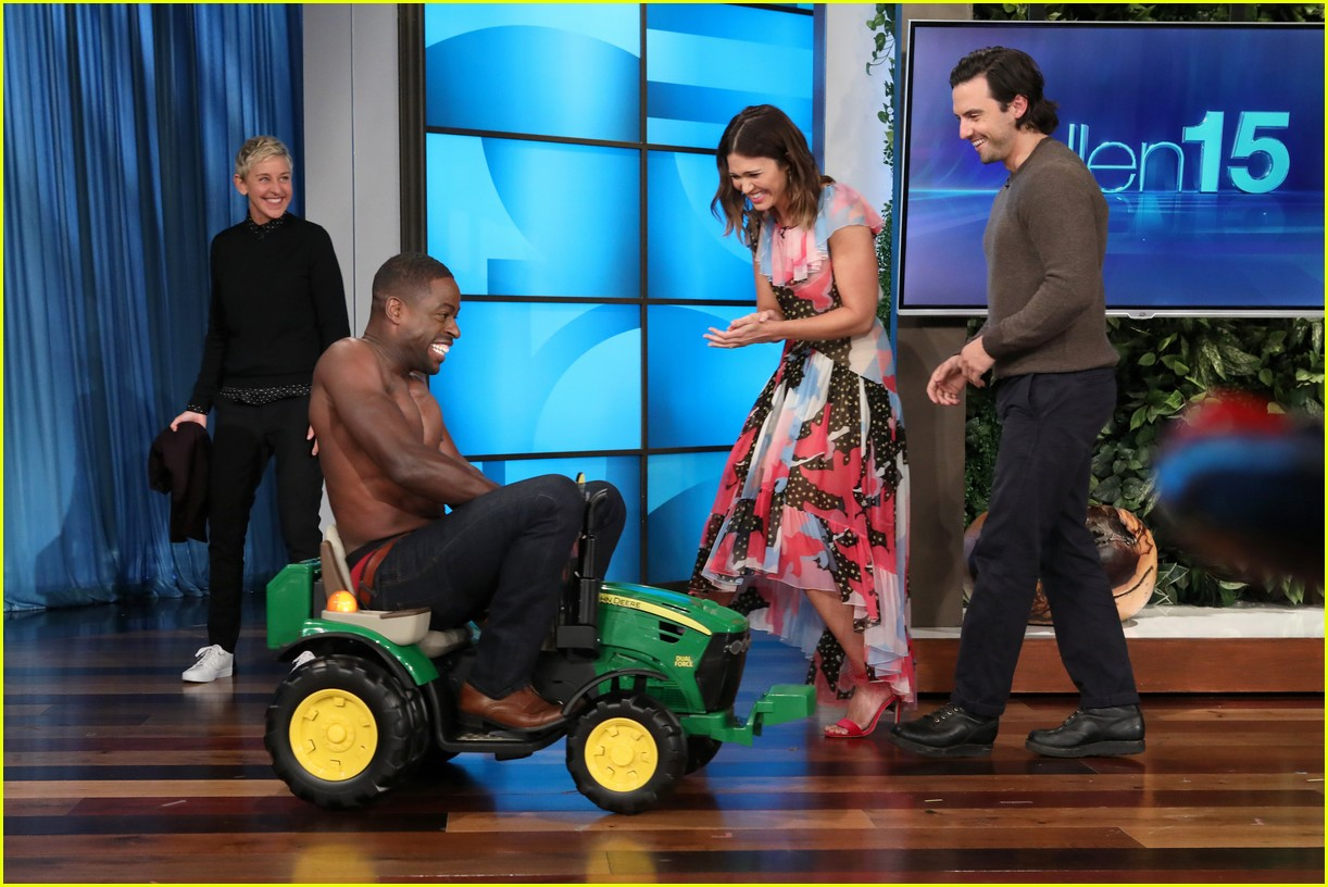 sterling k brown goes shirtless for his first ellen appearance 01
