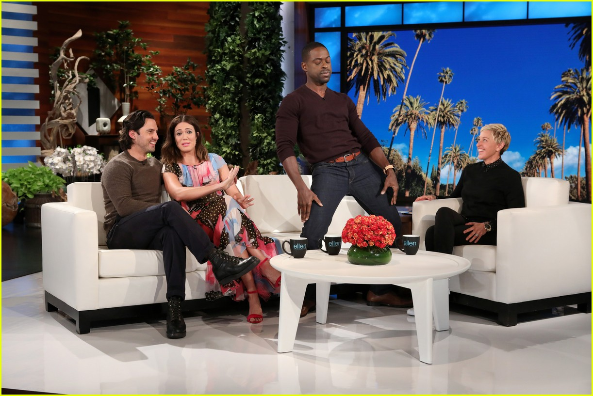 sterling k brown goes shirtless for his first ellen appearance 02