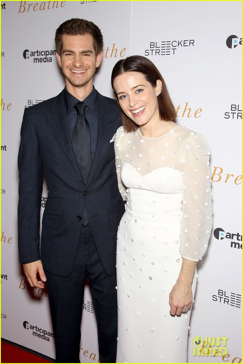 andrew garfield claire foy breath screening nyc 023970331