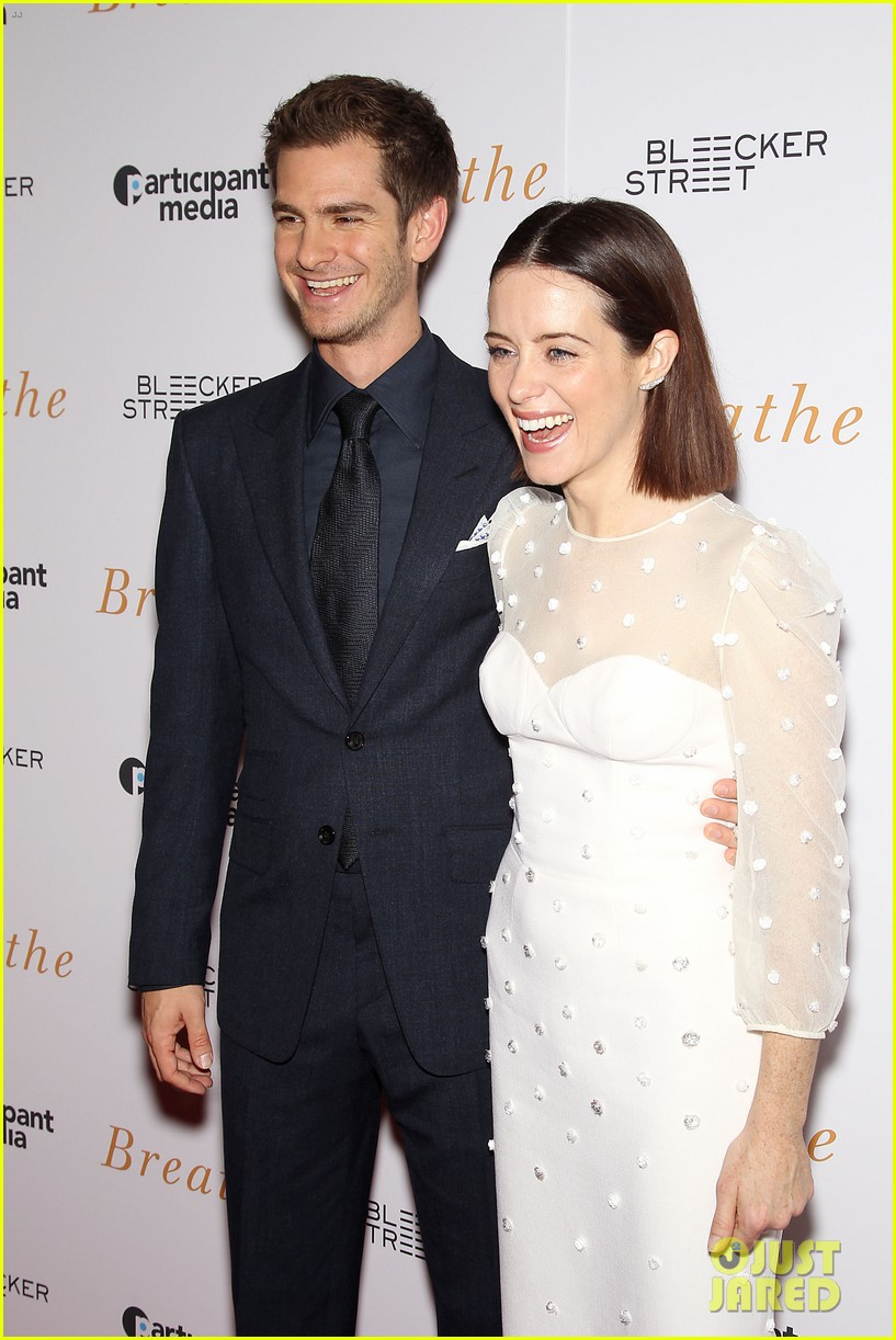 andrew garfield claire foy breath screening nyc 183970347