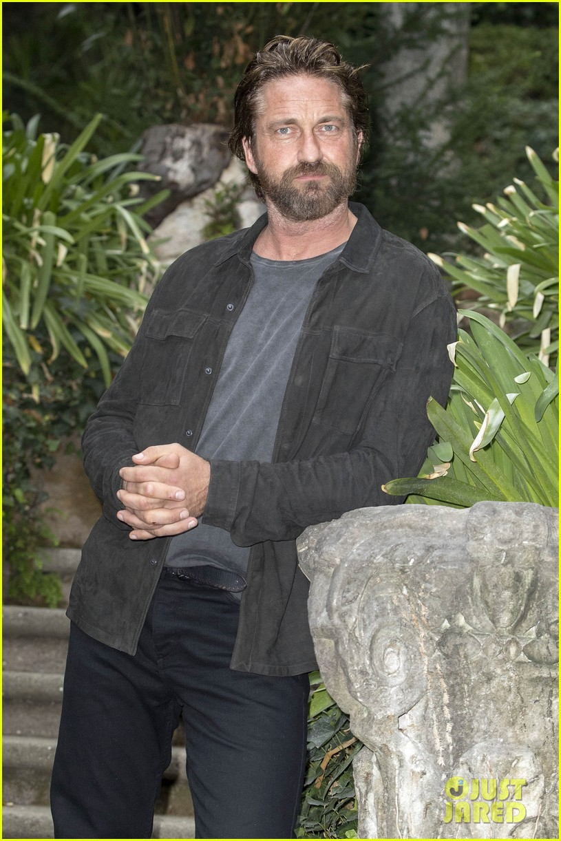 gerard butler rome photo call geostorm 133976279