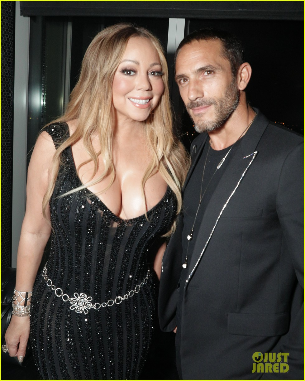 mariah carey buddies up with alex pettyfer at karl lagerfelds intimate dinner 643977153