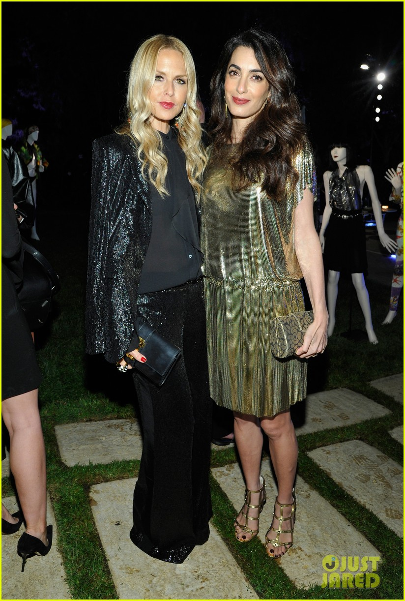 amal clooney has solo girls night out at william vintages gianni versace archive 183968913