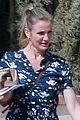 cameron diaz looks pretty in a floral dress in la 04