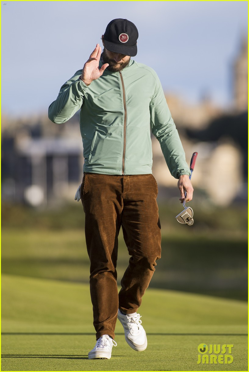 jamie dornan plays in alfred dunhill golf championship 323968683