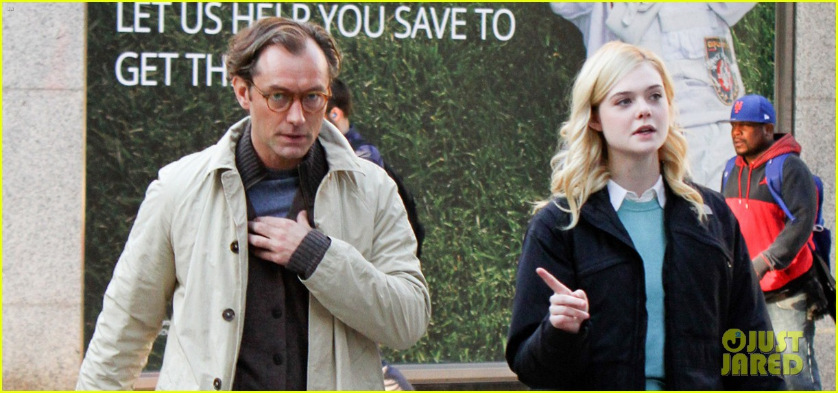 elle fanning jude law and rebecca hall film woody allen movie in nyc 093974730
