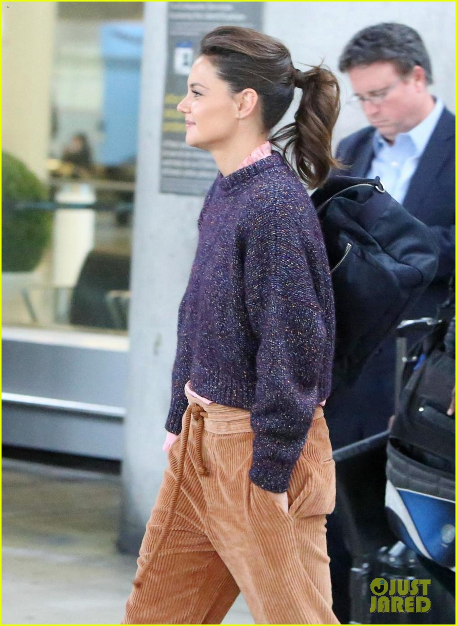 katie holmes shows off her casual style before slipping into elegant evening gown 053972037
