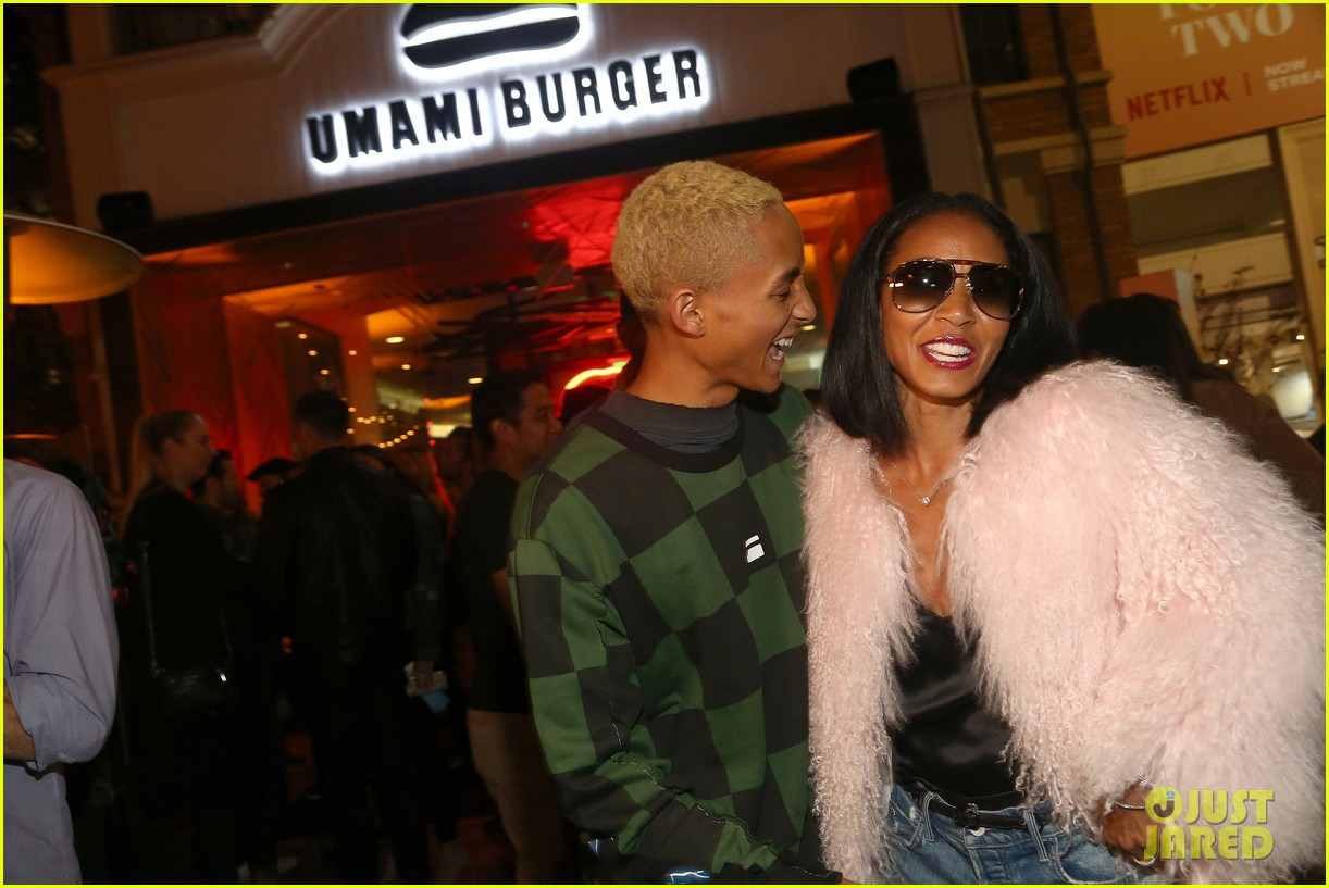 jada pinkett smith supports son jaden at umami burger impossible launch 043971418