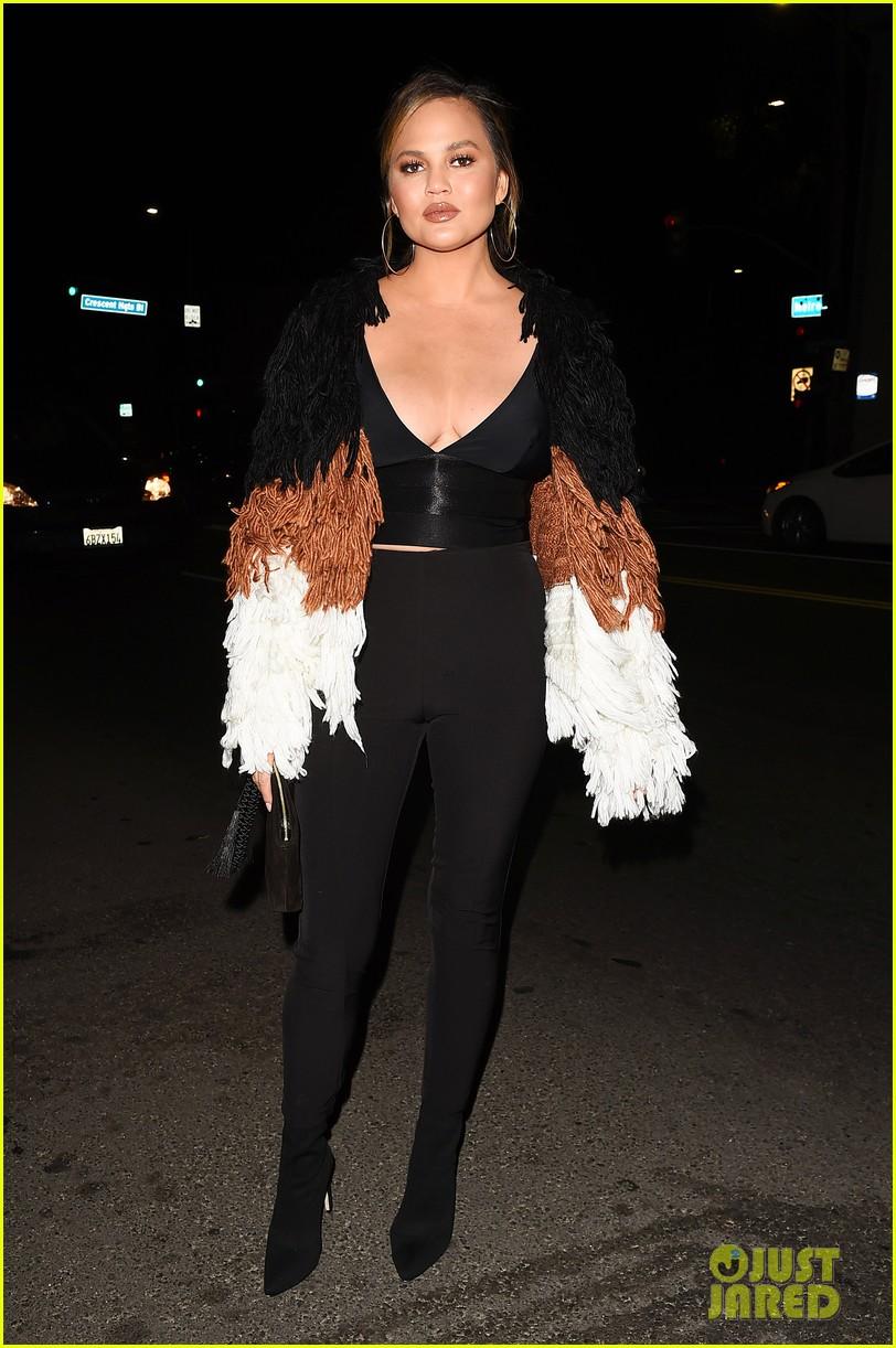 chrissy teigen celebrates her fashion collaboration with revolve 013971854