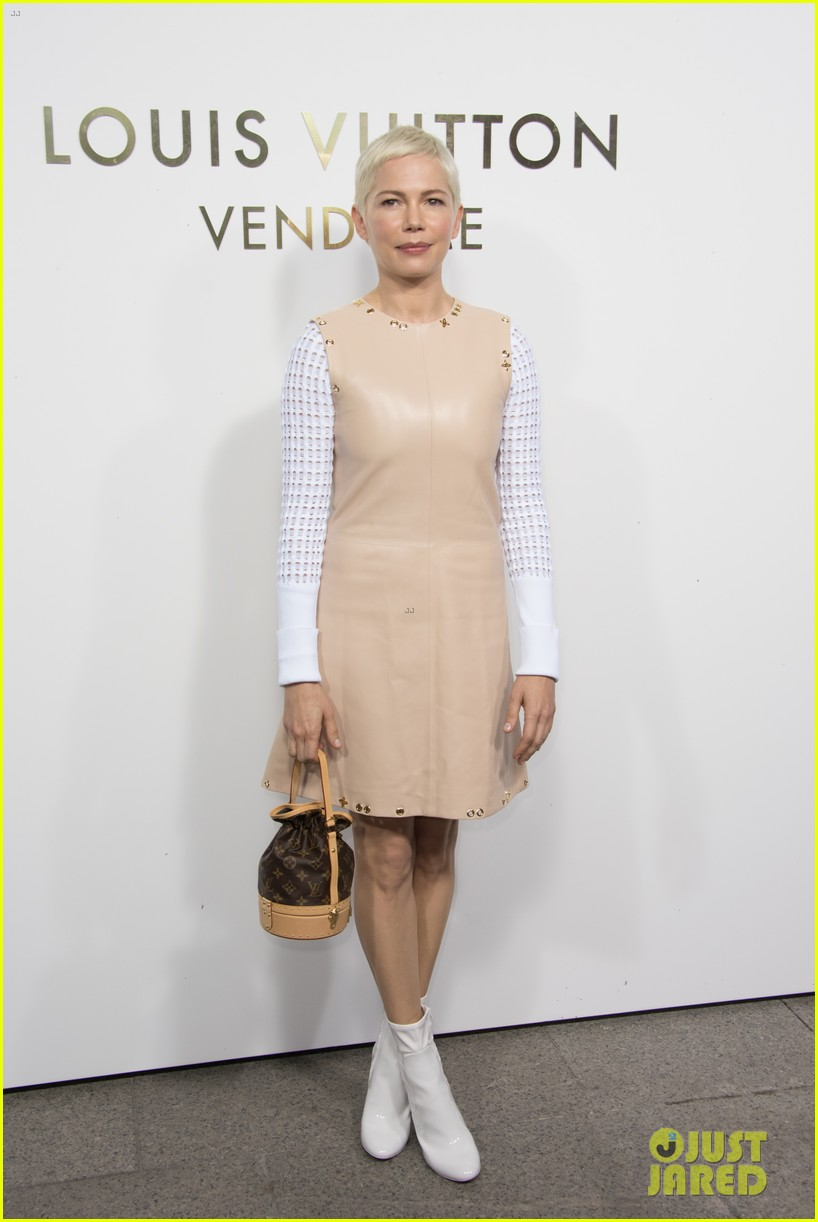 michelle williams bestie busy philipps hit up louis vuitton vendome flagship opening 023967320