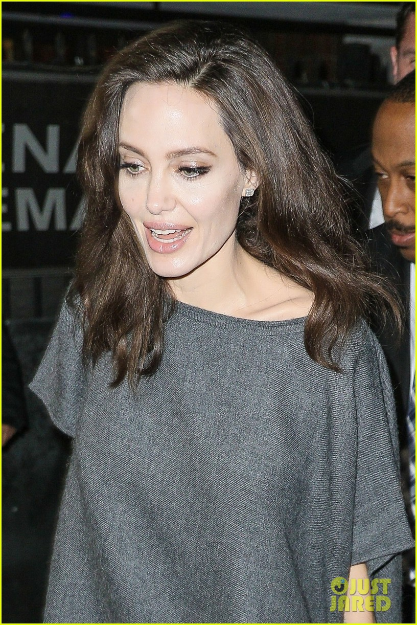 Full Sized Photo of angelina jolie meets fans outside ...