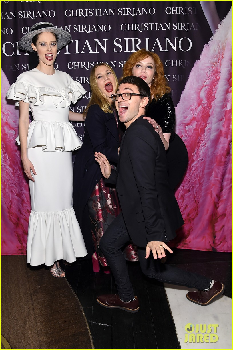 drew barrymore christina hendricks christian siriano dresses to dream about book launch 093984819