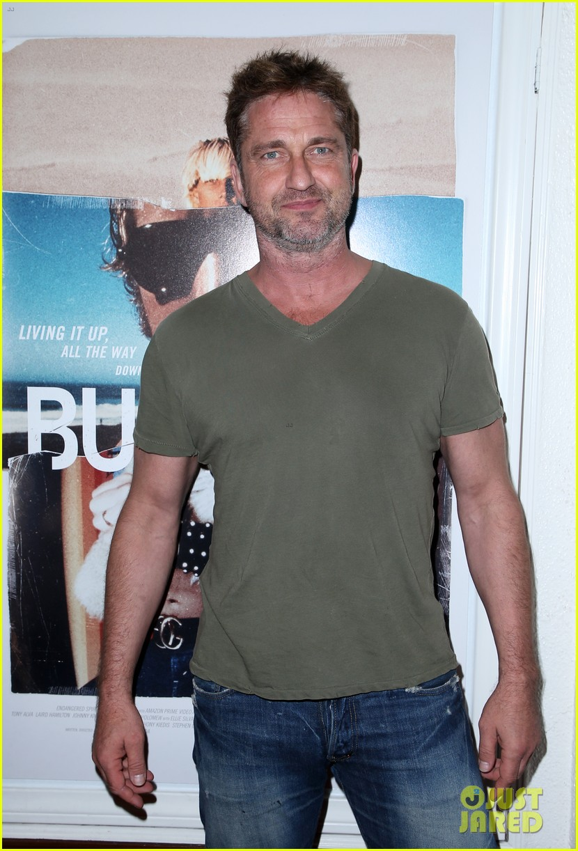 gerard butler joel kinnaman step out to support bunker77 doc premiere 063981168