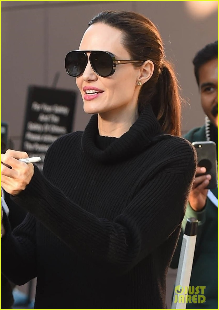 angelina jolie looks chic greeting fans in hollywood 043982372