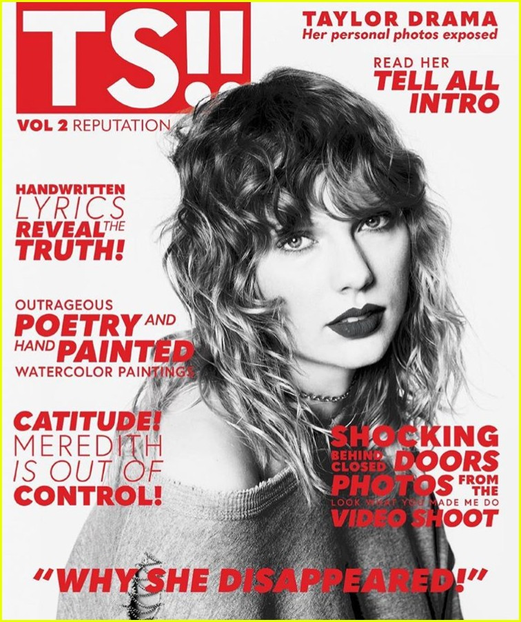 taylor swift reputation magazine back covers 023984325