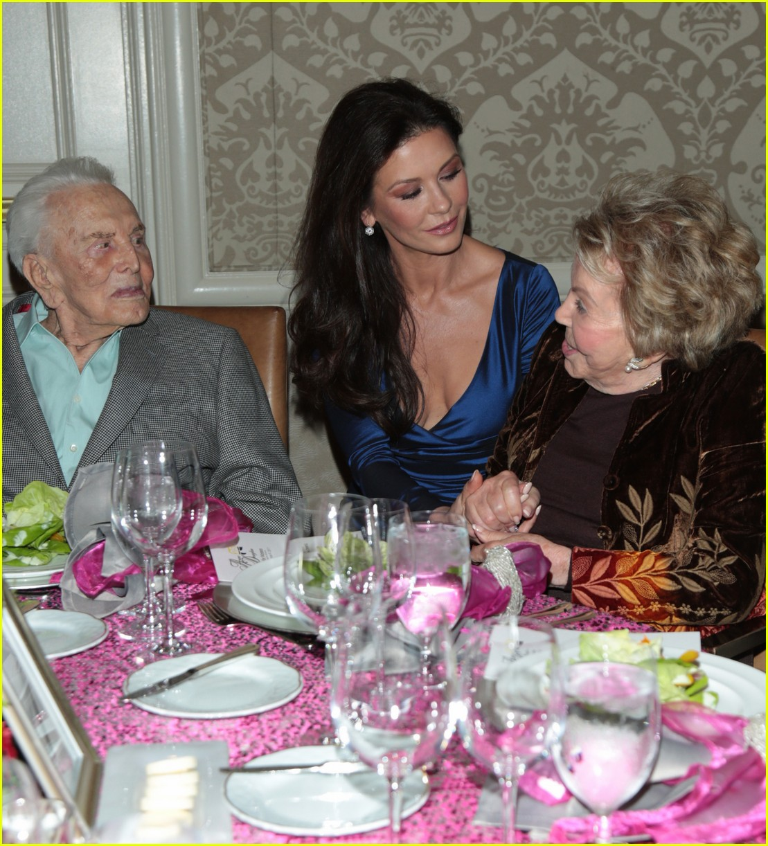 catherine zeta jones gets family support at legacy of vision gala 083985537