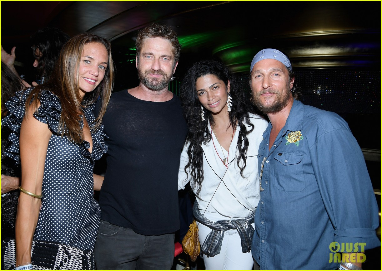 gerard butler join matthew mcconaughey camila alves at art basel 033999660