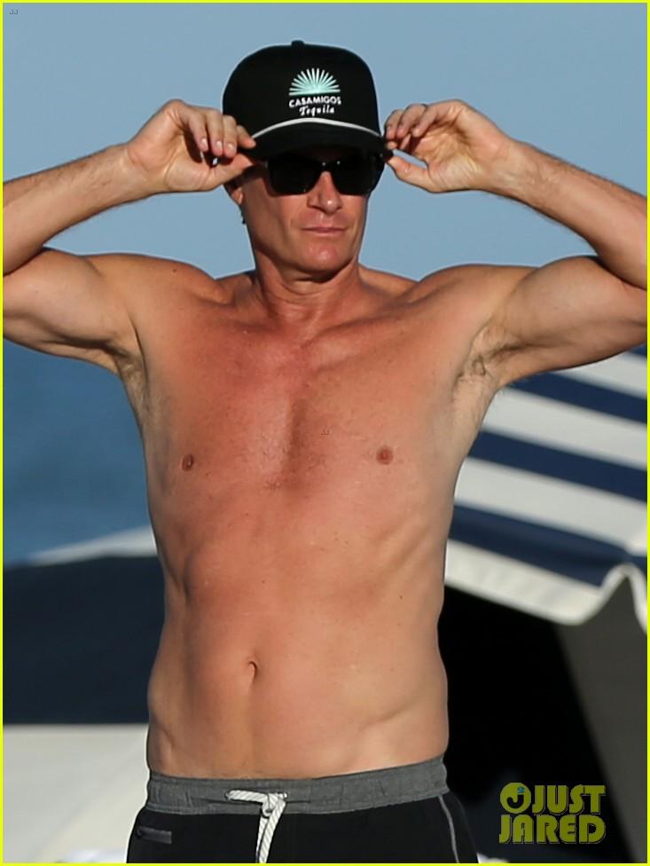 presley gerber dad rande gerber go shirtless in miami 053998091