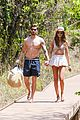 izabel goulart boyfriend kevin trapp show off fit bodies during romantic vacation stroll 01