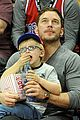 chris pratt son jack courtside seats clippers 04