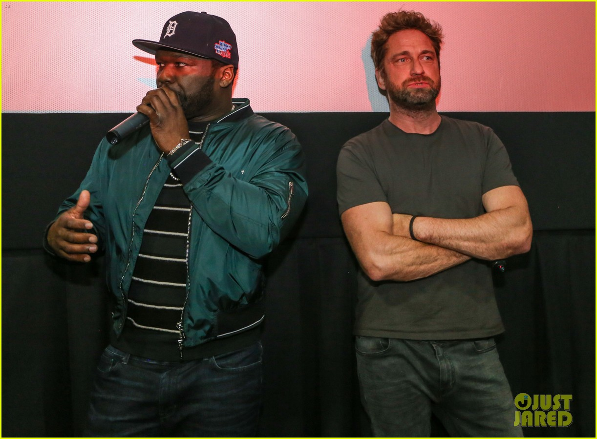 gerard butler 50 cent team up in miami for den of thieves special screening 044012436