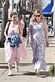 kirsten dunst covers up baby bump in purple maxi dress 03