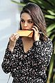 mila kunis shows off her legs in floral print romper 04