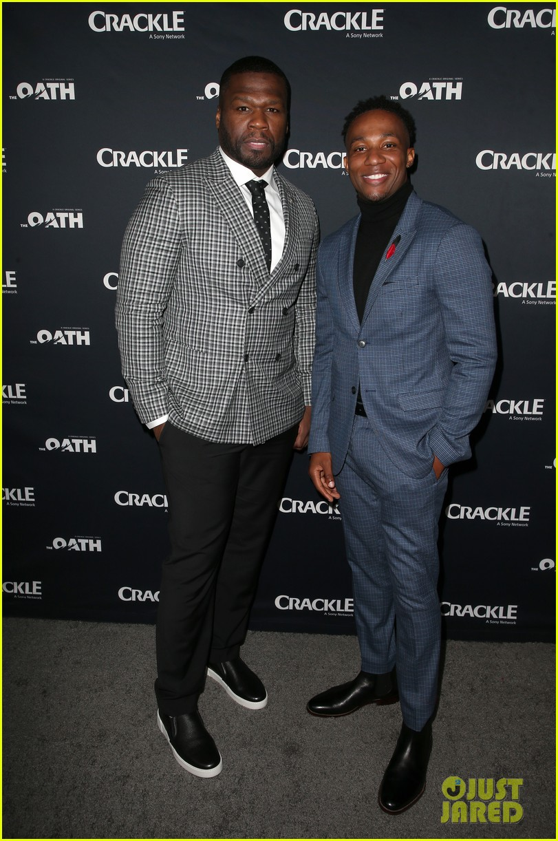 50 cent supports ryan kwanten the oath cast at l a premiere 12