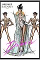 balmain reveals sketches for beyonce coachella weekend 2 costumes 01