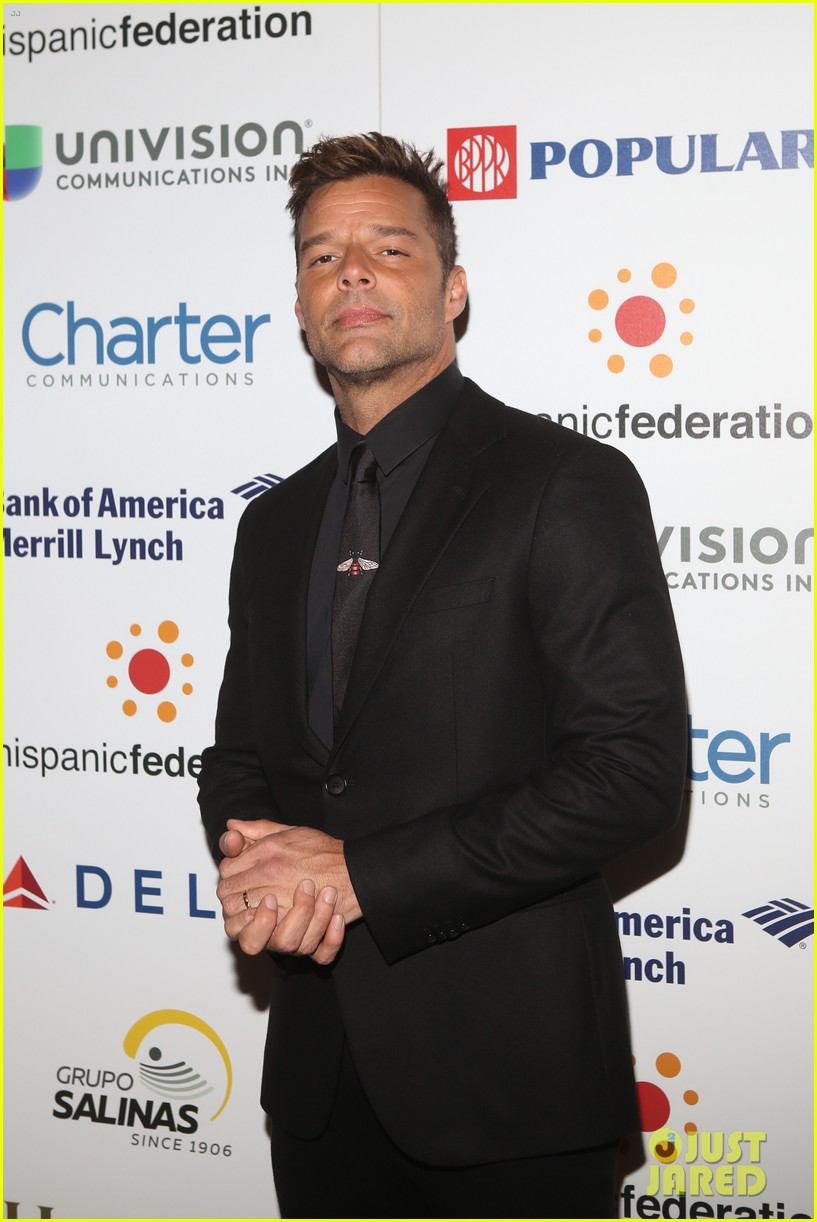 ricky martin lin manuel miranda suit up for rising stronger gala in NYC 04