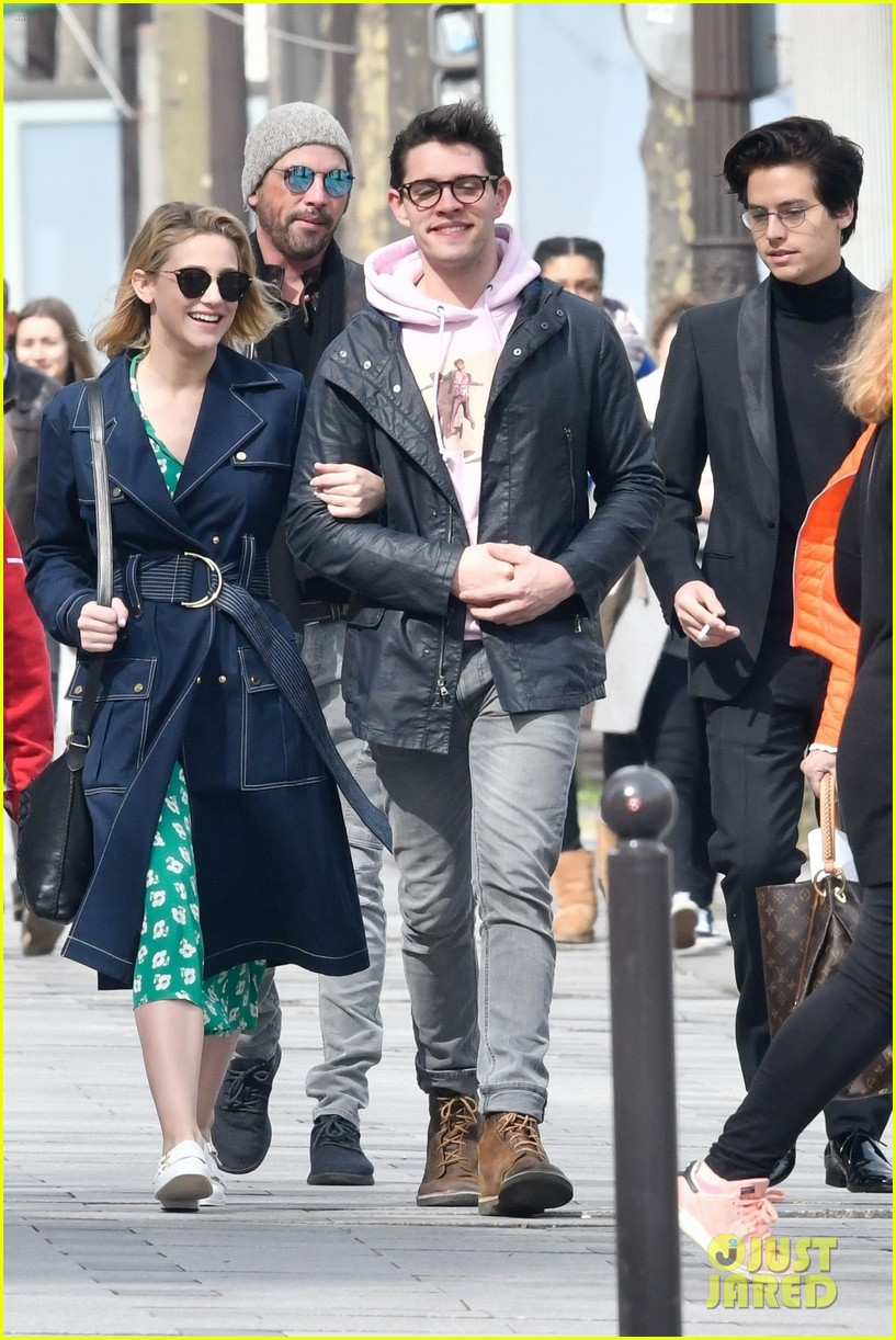 Cole sprouse lili reinhart go sightseeing with riverdale cast in cole sprouse lili reinhart go sightseeing with riverdale cast in paris photo 4059634 casey cott cole sprouse lili reinhart vanessa morgan pictures m4hsunfo