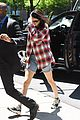kendall jenner rocks oversized plaid shirt while out in nyc 01