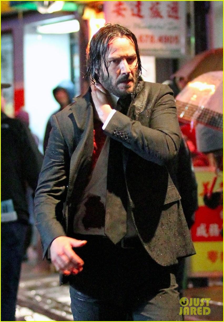 Keanu Reeves Is Bloody Soaking Wet In John Wick 3 Set Photos