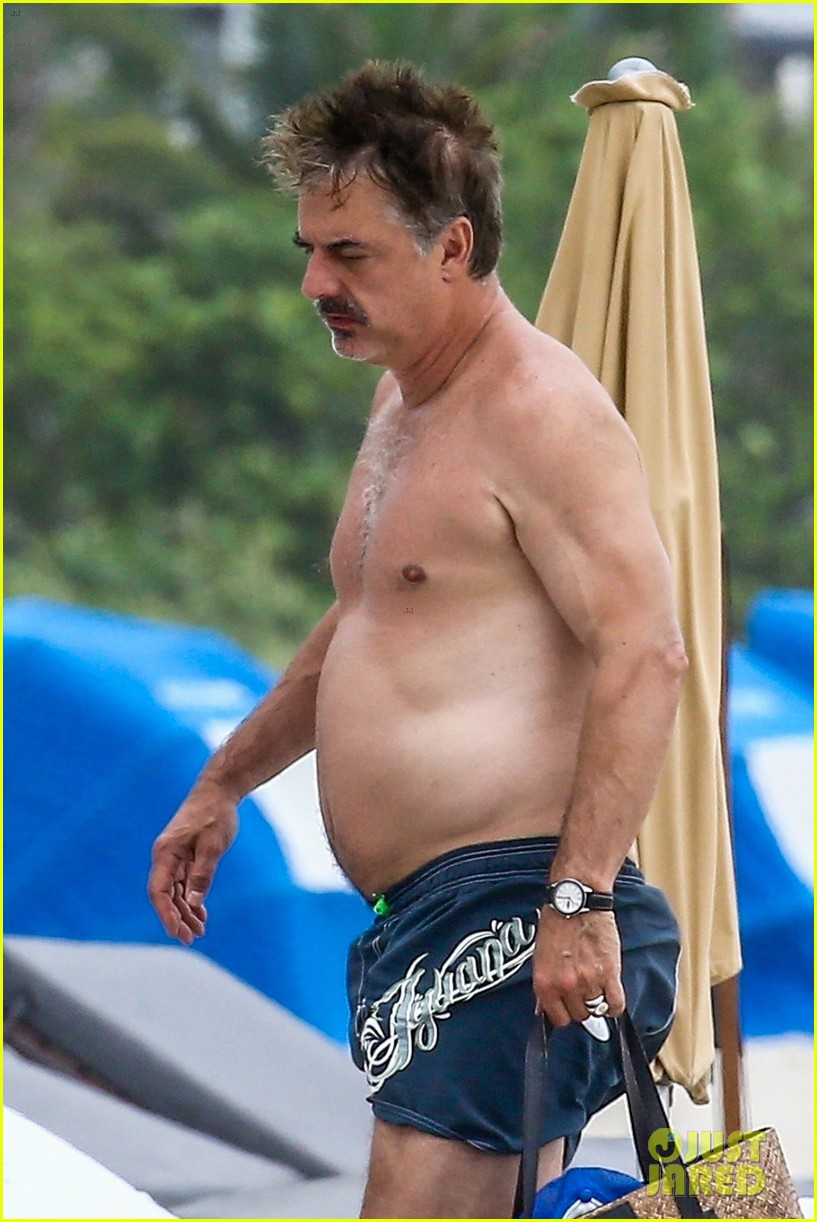 chris noth goes shirtless on the beach during miami vacation 06